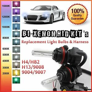 Two 35w 55w Bi Xenon Hi Low Hid Kit S Replacement Light Bulbs H4 H13 9004 9007