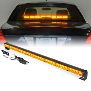 Xprite Amber Yellow 35 5 Inch 32 Led Emergency Warning Light Bar Traffic Flash