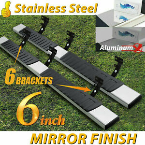 Fit 09 18 Dodge Ram 1500 Crew Cab 6 Nerf Bar Side Step Running Board Chrome H