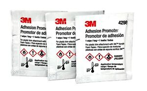 3m 4298 Adhesion Promoter For Acrylic And Rubber Based Tapes 3 Pack Sponges