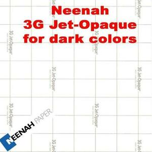 3g Neenah Jet Opaque Heat Transfer Paper 8 5 X 11 525 Sheets