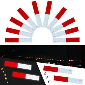 10 Pcs Dot c2 Conspicuity Reflective Tape 2x12 Red White Strip Trailer Rv Truck