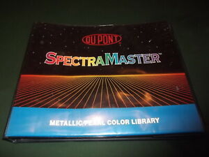 Dupont Spectramaster Metallic Pearl Paint Chip Color Library Book Manual Binder