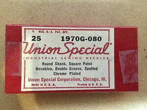 Union Special 1970g 080 Sewing Machine Needles 25 Needles