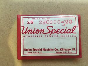 Union Special 29c300 20 Sewing Machine Needles 25 Needles