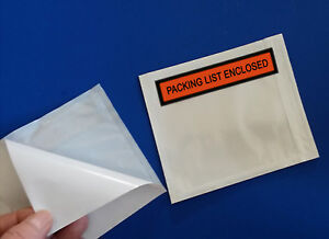 1000 4 5 X 5 5 Box Packing List Slips Envelopes Pouch Shipping Packaging Labels