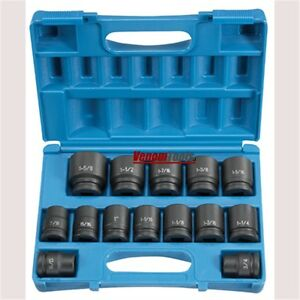 Grey Pneumatic 8038 3 4 Drive 14 Piece Sae Impact Socket Set