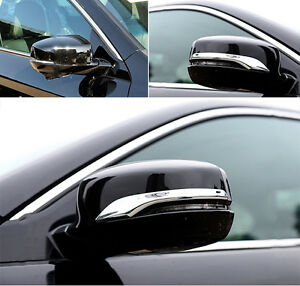 Fit For 2013 2017 Honda Accord Side Door Rearview Mirror Chrome Cover Trim Bezel