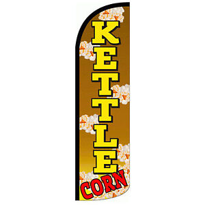 Kettle Corn Extra Wide Windless Swooper Flag