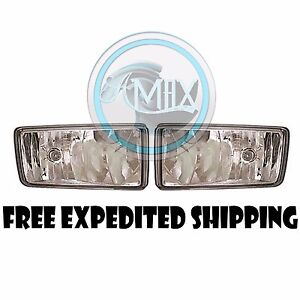 Clear Fog Lights Pair Set Fits 2008 14 Chevy Silverado 1500 2500 2500hd 3500hd