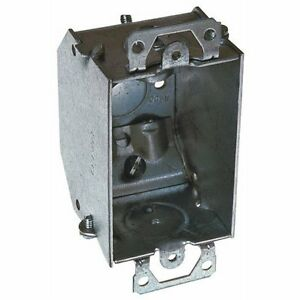 15 Raco 471 Switch Electrical Box Beveled Corners 4 Nmsc Cable Clamps