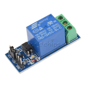 5pcs 12v One 1 Channel Relay Module With Optocoupler For Pic Avr Dsp Arm Arduino