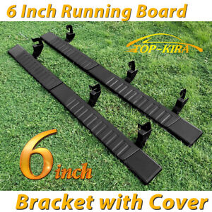 For 07 18 Silverado Double extended Cab 6 running Board Nerf Bar Side Step Blk H