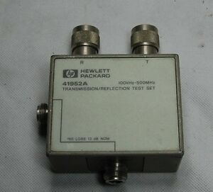Hp Agilent 41952a 500 Mhz Transmission Reflection Test Directional Bridge Module