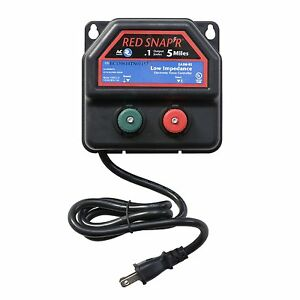 New Red Snapr Ea5m Rs 5 Mile Ac Powered Fence Charger Free Shipping