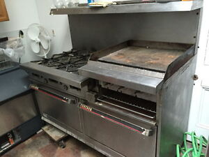 Garland Commercial Gas Stove 6 burner With Double Oven Broiler Griddle