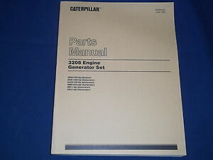 Cat Caterpillar 3208 Engine Generator Set Parts Book Manual S n 30a5100 up
