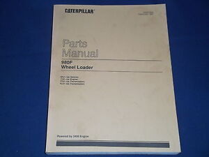 Cat Caterpillar 980f Wheel Loader Parts Book Manual S n 3hj1 up