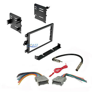 Car Stereo Double Din Dash Kit Harness Antenna For 1992 Up Chevy Gmc Pontiac