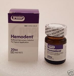 Dental Premier Hemodent 20 Cc Buffered Hemostatic Solution 4 Topical Application