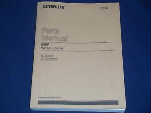 Cat Caterpillar 980f Wheel Loader Parts Manual S n 8cj1 up