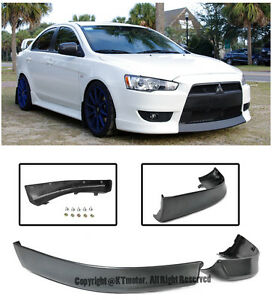 Rally Style Front Lower Bumper Air Dam Lip Spoiler For 08 15 Mitsubishi Lancer