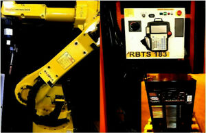 Fanuc Welding Robot Arcmate 100ib Rj3ic Lincoln I400 Tested Low Hrs Intl Ship