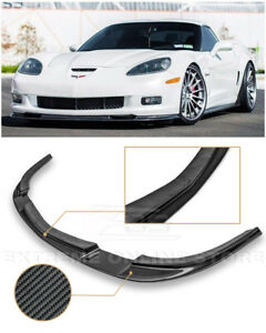 For 05 13 Corvette C6 Z06 Eos Zr1 Style Carbon Fiber Front Bumper Lip Splitter