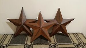 3 Primitive 12 Rusty Barn Stars Metal Star Rustic Country 3d New
