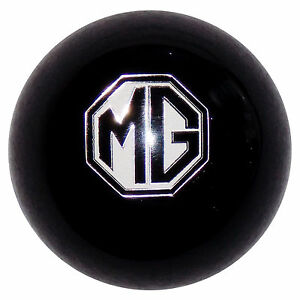 Mg Emblem Black Shift Knob 3 8 24 Thread U s Made