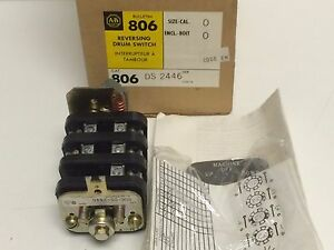 New Old Stock Allen bradley Reversing Drum Switch 806 ds 2446 806ds2446 3 pos