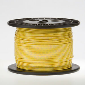 18 Awg Gauge Solid Hook Up Wire Yellow 500 Ft 0 0403 Ul1007 300 Volts