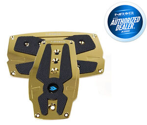 Nrg Sport Pedals Chrome Gold With Black Rubber Inserts Auto Pdl 250c