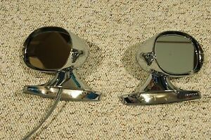 Chrome 1971 74 Mopar E Body Outside Mirrors Dodge Challenger Barracuda Charger