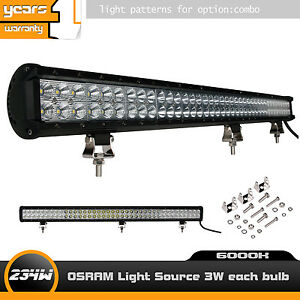 36inch 234w Cree Led Light Bar Flood Spot Combo Driving Lamp Offroad Truck Jeep