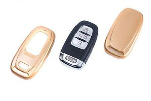 Audi Remote Flip Key Cover Case Skin Shell Cap Fob Protection Hull S Line Gold