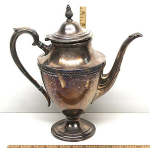 Vintage Castleton 802 Coffee Tea Pot International Silver Company Silverplate