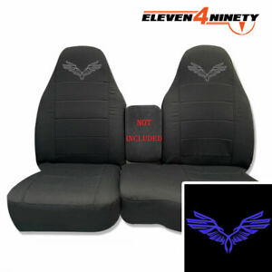 Designcovers Seat Covers 60 40 Hi Back Fit 91 12 Ranger Charcoal W Wings Logo