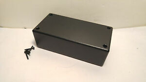 Usa Made Black Plastic Electronic Project Box Enclosure Case 5 X 2 5 X 1 6 Inch