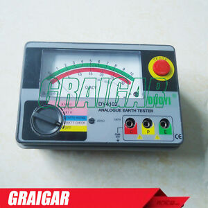 Dy4102 Ground Resistance Tester Analog Earth Resistance Meter 1000 Ohms
