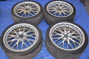 Ame Fin Enkei 20 Inch Staggered Jdm Vip Wheels 3 Piece Rare Work Vsxx Vs
