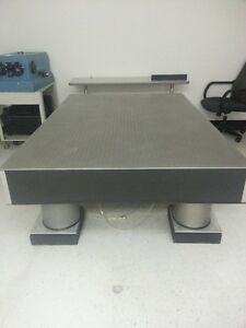 Used 4 X 6 X 8 Optical Table With Pneumatic Isolation Mount Xl b