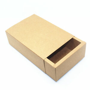 Kraft Paper Drawer Box Gift Handmade Soap Craft Jewelry Packaging Boxes Brown