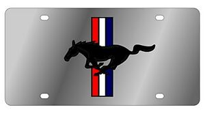 New Ford Mustang Horse Logo Stainless Steel License Plate