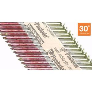 Paslode 30 Framing Nails 3 In X 0 120 gauge Collated Galvanized 2000 Per Box