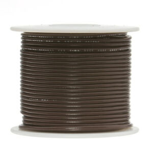 24 Awg Gauge Solid Hook Up Wire Brown 500 Ft 0 0201 Ul1007 300 Volts