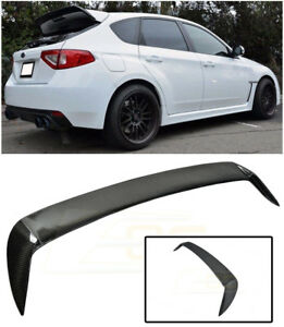 For 08 14 Subaru Wrx Sti Rear Carbon Fiber Wing Spoiler Extension Gurney Flap