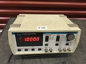 Global Specialties Pw2105 5mhz Function Generator W rs 232