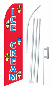Ice Cream Red Swooper Flag Bundle
