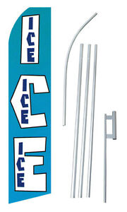Ice Extra Wide Swooper Flag Bundle